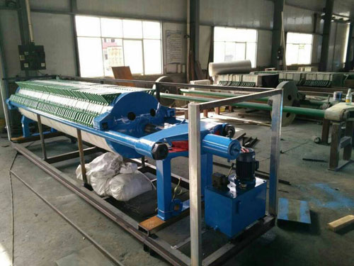 Circular filter press for Tajikistan customer